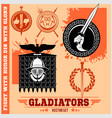 gladiator logos templates design vector image