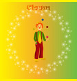 happy juggling circus clown vector image