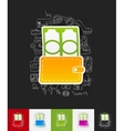 money paper sticker with hand drawn elements vector image