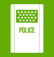 riot shield icon green vector image
