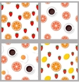 Set seamless pattern in flat style vector image