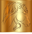 Sketch Horse on Golden Background vector image