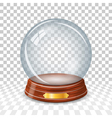 Transparent snowy glass ball vector image