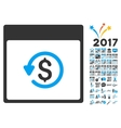 Chargeback Calendar Page Flat Icon With vector image