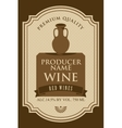 wine labels with a clay jug vector image