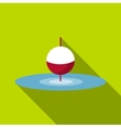 Small floating bobber icon flat style vector image