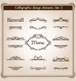 ornamental design antique elements for text vector image