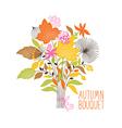 Floral autumn bouquet vector image vector image
