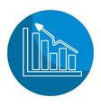 emblem business statistic data growing diagram vector image