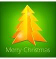 Golden fir tree on green vector image vector image