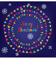 Christmas card with bunting flags vector image
