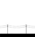 Telegraph poles vector image vector image