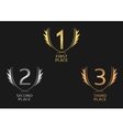 Award label set vector image