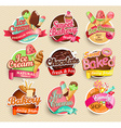 Food Label and Sticker vector image