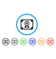 authorize diploma rounded icon vector image