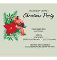 bird frame Christmas invitation vector image