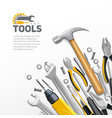Carpenter Construction Tools Flat Composition vector image