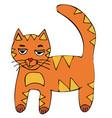 cat red-headed kitten cartoon vector image