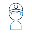 delivery worker avatar character vector image