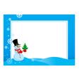 hristmas frame snowmen vector image
