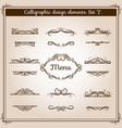 Ornamental design antique elements for text vector image