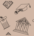 seamless pattern of education icons vector image