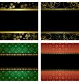 set - black card with golden frames vector image