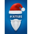 Xmas Background of Santa with space for text vector image