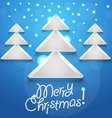 Abstract Christmas tree glowing snowflakes vector image