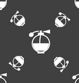Perfume icon sign Seamless pattern on a gray vector image