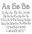 Russian alphabet vector image vector image