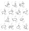 Chinese horoscope vector image