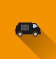 Car icon 11 long shadow vector image