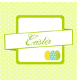 Easter banner background with eggs vector image