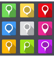 Map Pins Icons vector image vector image