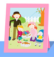 Family photo in spring vector image