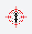 Ant icon red target vector image