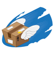 Bird Wings Package express delivery vector image