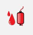 Blood donation medicine help hospital save life he vector image