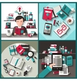 Books Flat Set vector image