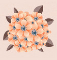 bunch of flowers on the background vector image