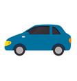 car vehicle sedan icon vector image