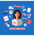 Customer Service Concept with Woman Support vector image