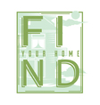Find your home vector image