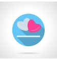 Gray and pink hearts round icon vector image