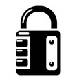 lock system icon simple black style vector image