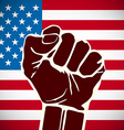 Power of Liberty concept with USA flag background vector image
