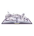 Russian fairy tale emelya and magic pike vector image
