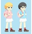 school girls vector image