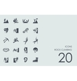 Set of rock climbing icons vector image